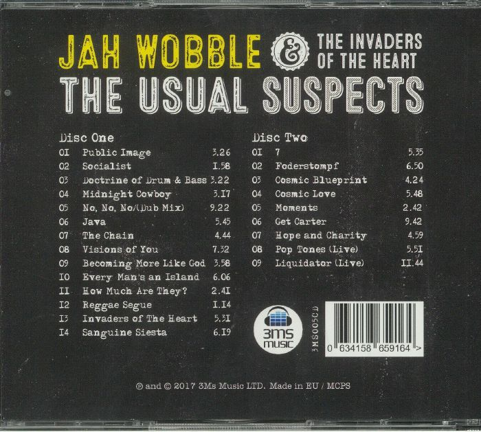 JAH WOBBLE & THE INVADERS OF THE HEART - The Usual Suspects