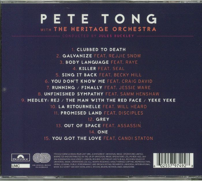 Pete tong jules buckley the heritage orchestra pete tong for Heritage orchestra