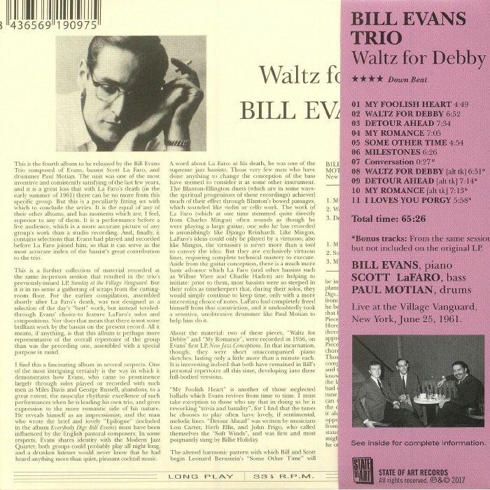 BILL EVANS TRIO - Waltz For Debby (reissue)