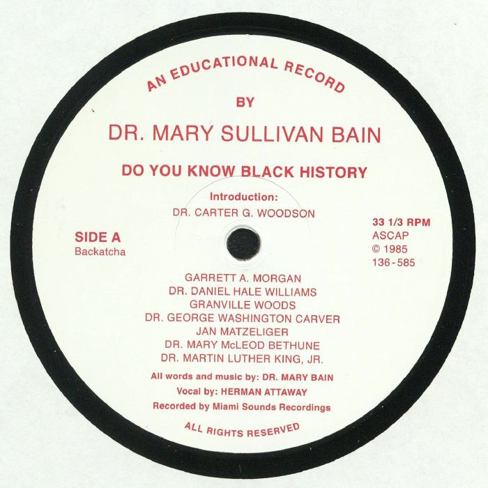 DR MARY SULLIVAN BAIN - Do You Know Black History (reissue)