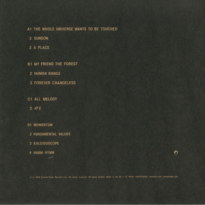 Nils Frahm All Melody Vinyl At Juno Records