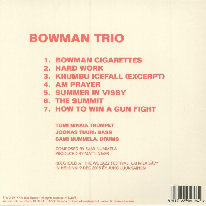 BOWMAN TRIO - Bowman Trio