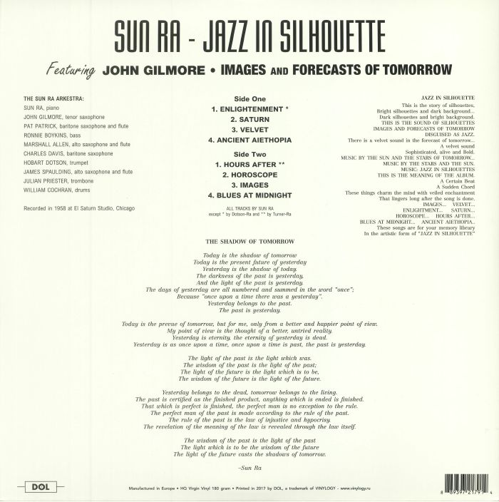 SUN RA & HIS ARKESTRA - Jazz In Silhouette (reissue)