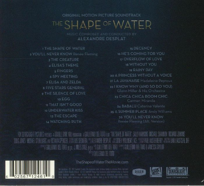Alexandre Desplat Various The Shape Of Water Soundtrack