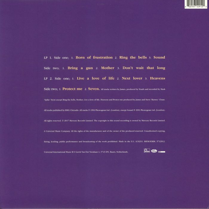 JAMES - Seven (reissue)