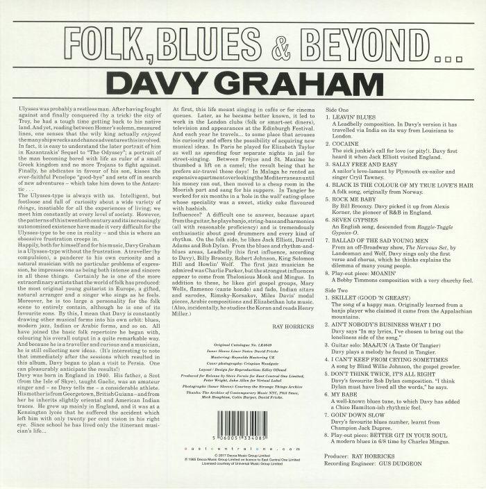 GRAHAM, Davy - Folk Blues & Beyond