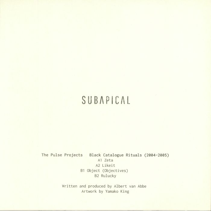 PULSE PROJECTS, The - Black Catalogue Rituals 2004-2005