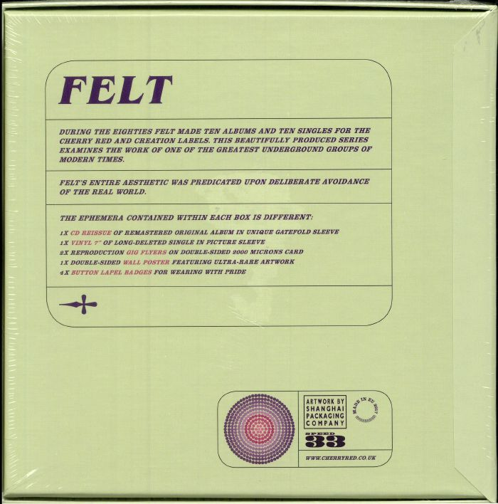 FELT - Crumbling The Antiseptic Beauty (remastered)