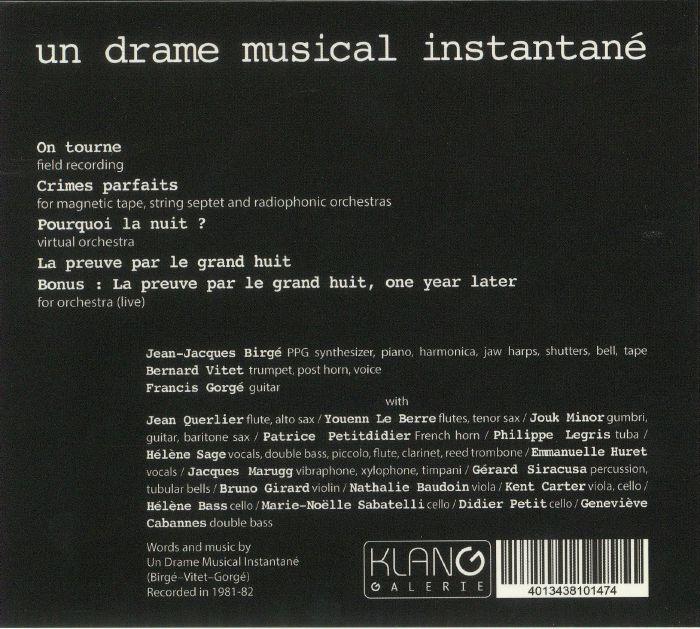 UN DRAME MUSICAL INSTANTANE - A Travail Egal Salaire Egal