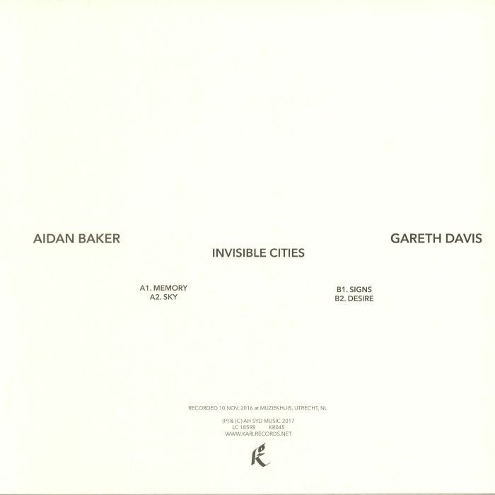 BAKER, Aidan/GARETH DAVIS - Invisible Cities