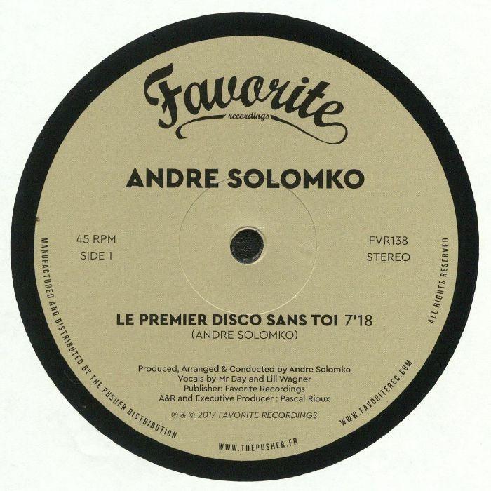 SOLOMKO, Andre - Le Premier Disco Sans Toi