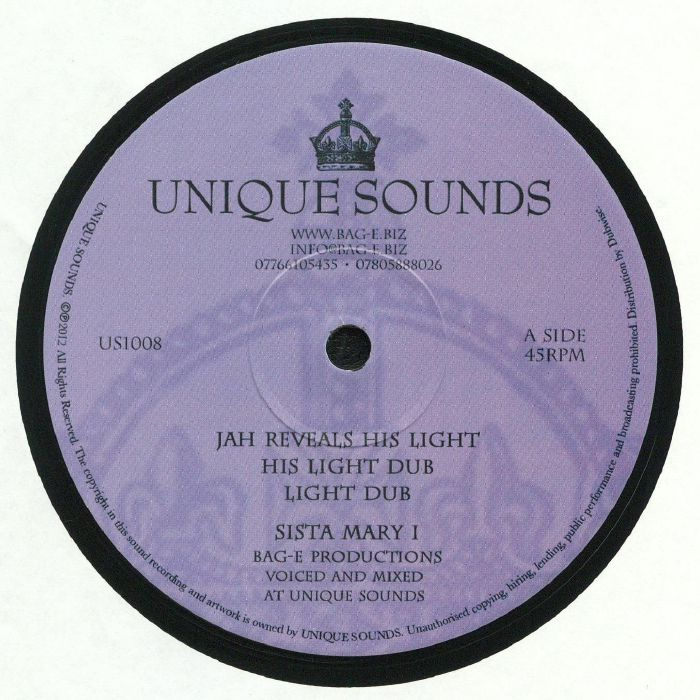 SISTA MARY I/DONOVAN KING JAY - Jah Reveal His Light/Walk With Jah