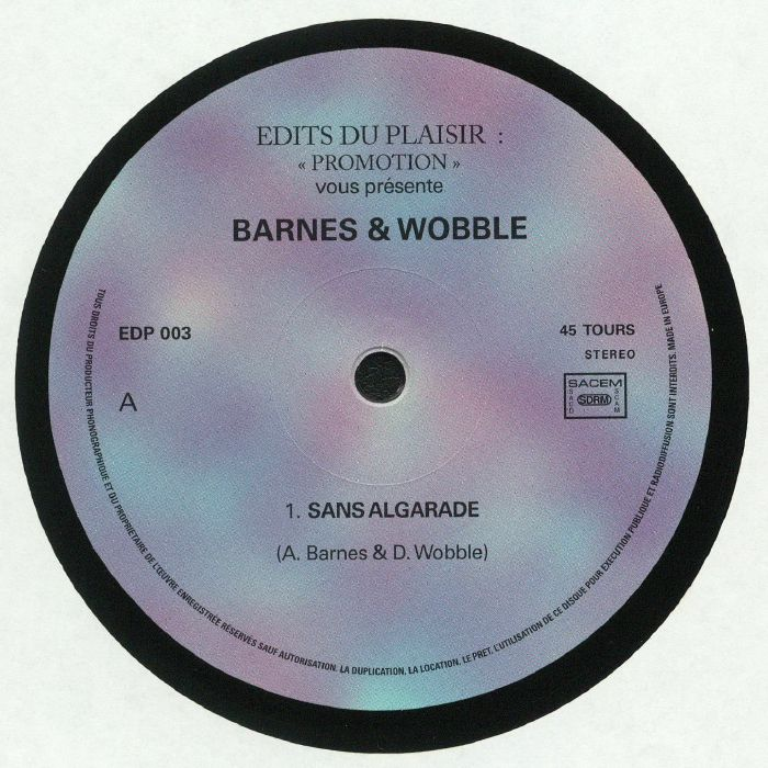 BARNES & WOBBLE - Sans Algarade
