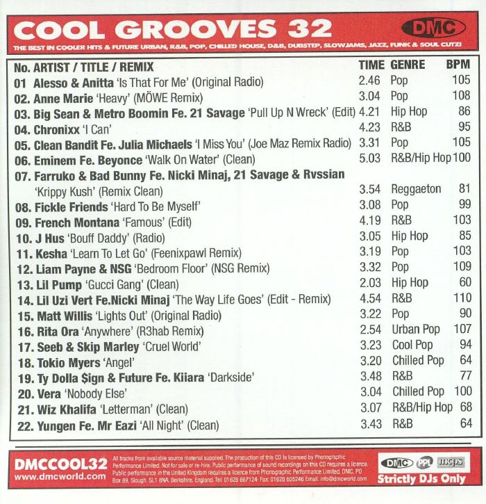 VARIOUS Cool Grooves 32: The Best In Future Urban R&B Slowjams Funk