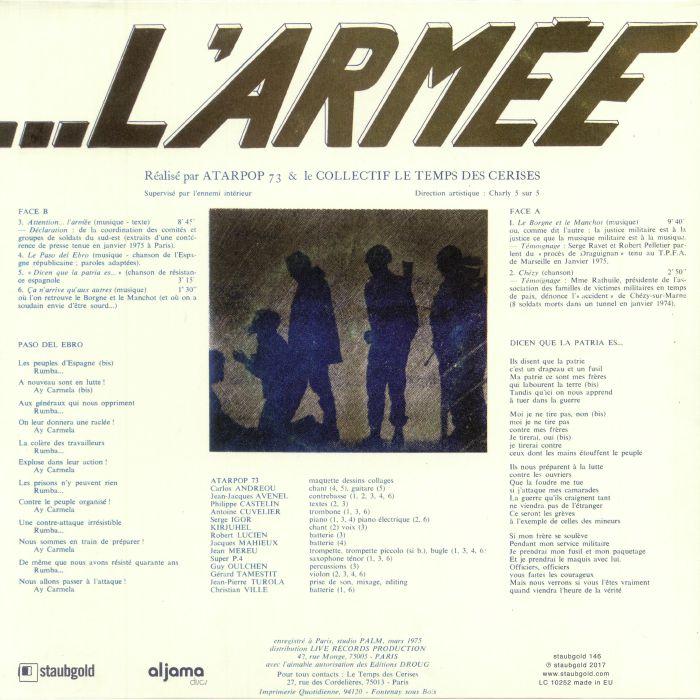 ATARPOP 73/LE COLLECTIF LE TEMPS DES CERISES - Attention L'Armee