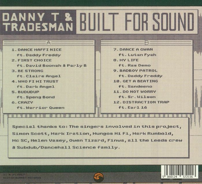 DANNY T/TRADESMAN - Built For Sound