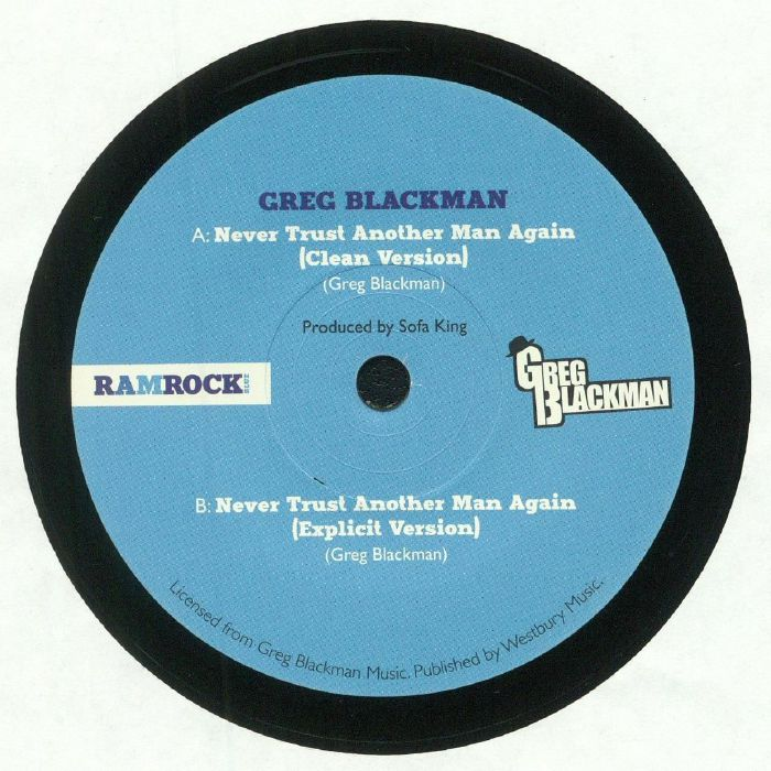 BLACKMAN, Greg - Never Trust Another Man Again