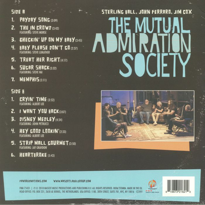 BALL, Sterling/JOHN FERRARO/JIM COX - The Mutual Admiration Society