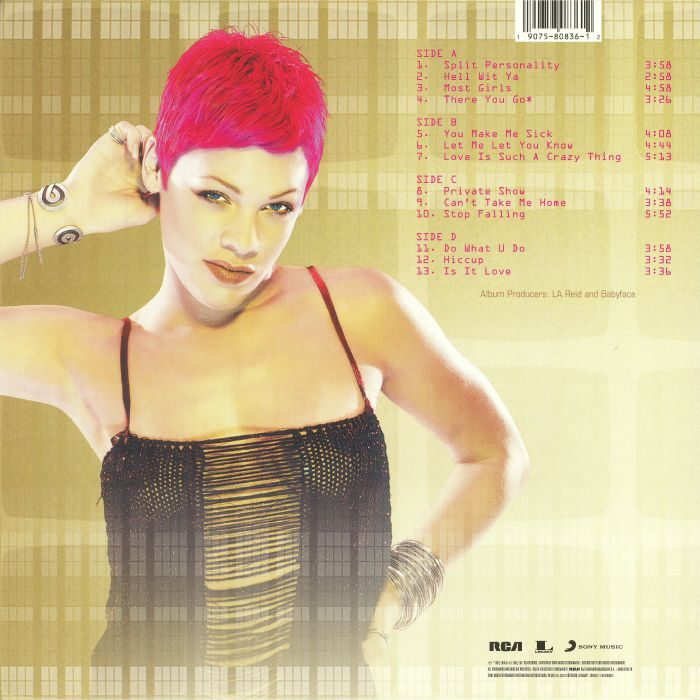P!NK aka PINK - Can't Take Me Home (reissue)