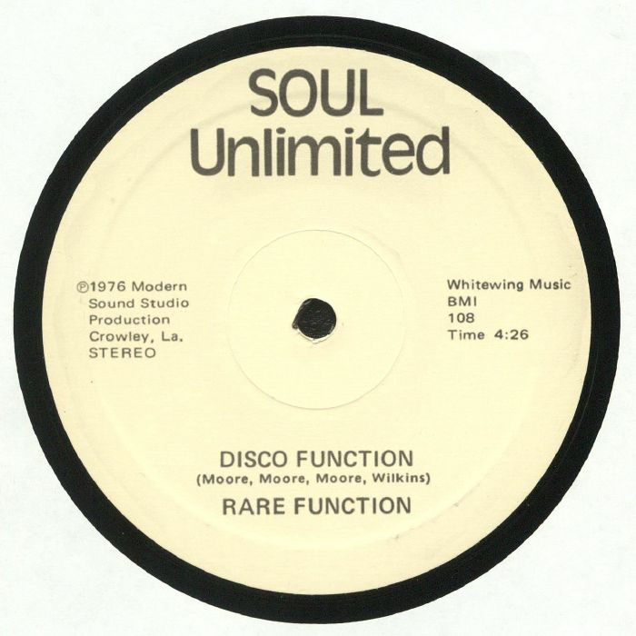 RARE FUNCTION Disco Function (reissue) vinyl at Juno Records