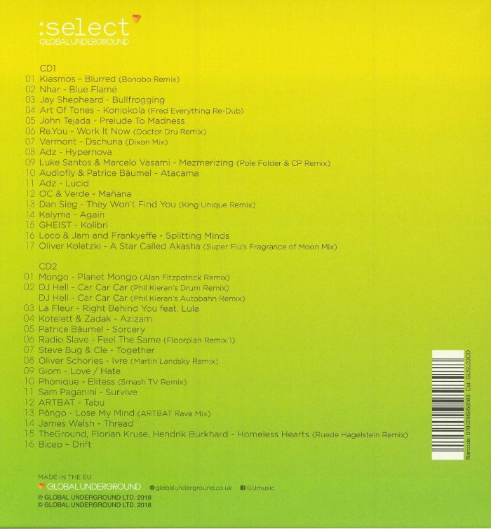 VARIOUS - Global Underground: Select #3
