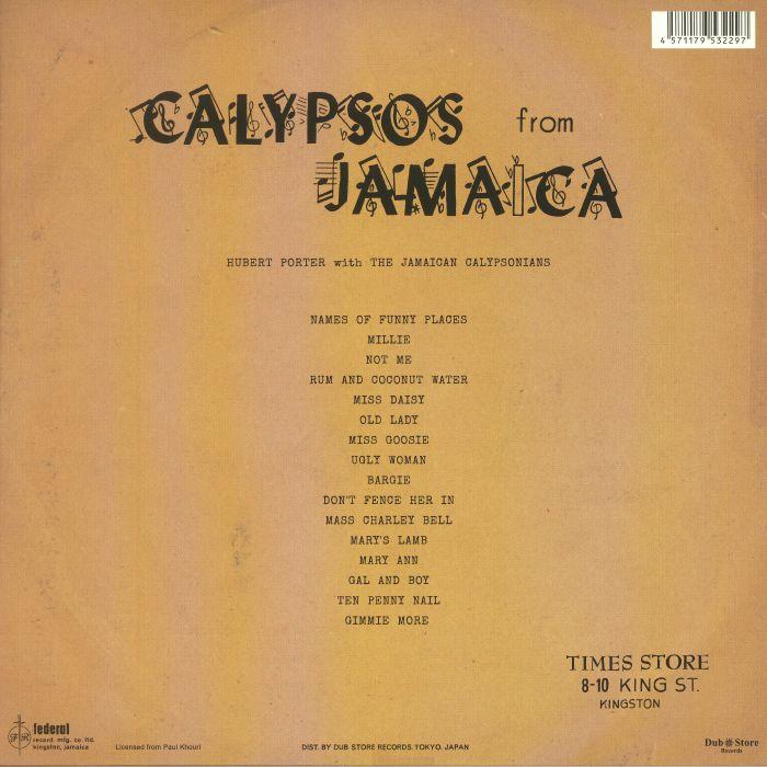 PORTER, Hubert with THE JAMAICAN CALYPSONIANS - Calypsos From Jamaica
