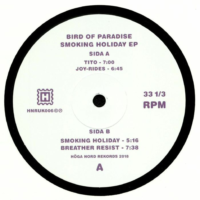 BIRD OF PARADISE - Smoking Holiday EP