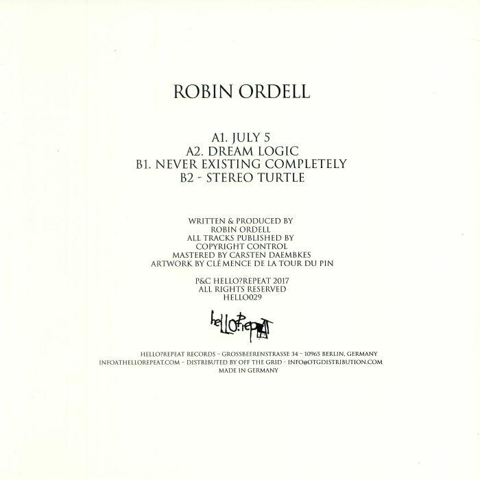 ORDELL, Robin - Dream Logic EP