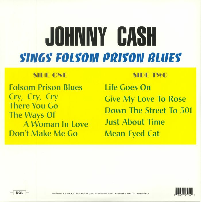 Johnny CASH Sings Folsom Prison Blues vinyl at Juno Records.