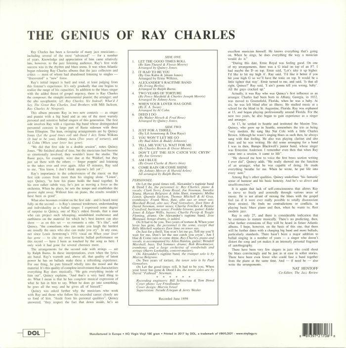 CHARLES, Ray - The Genius Of Ray Charles