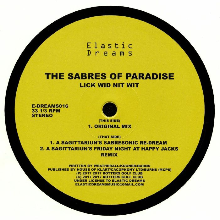 SABRES OF PARADISE, The - Lick Wid Nit Wit