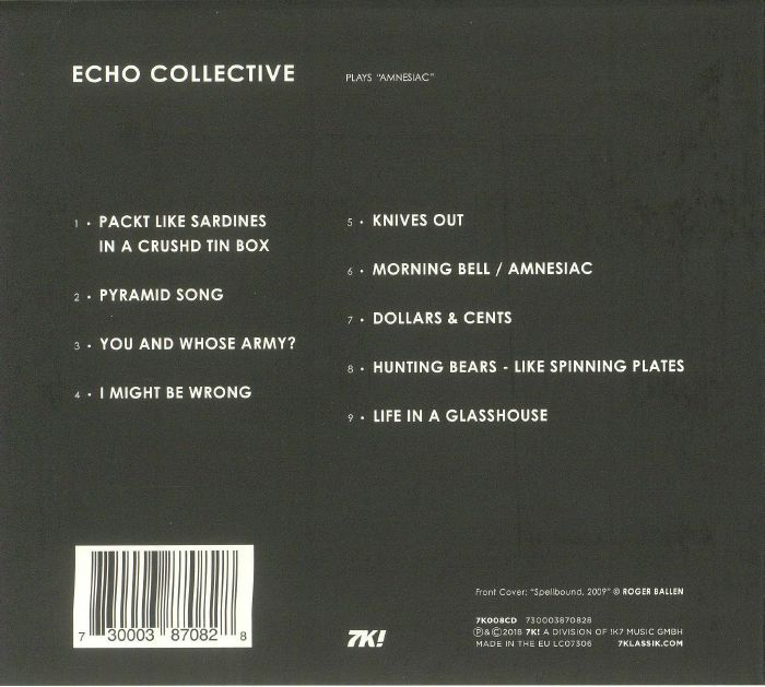 ECHO COLLECTIVE - Plays Amnesiac
