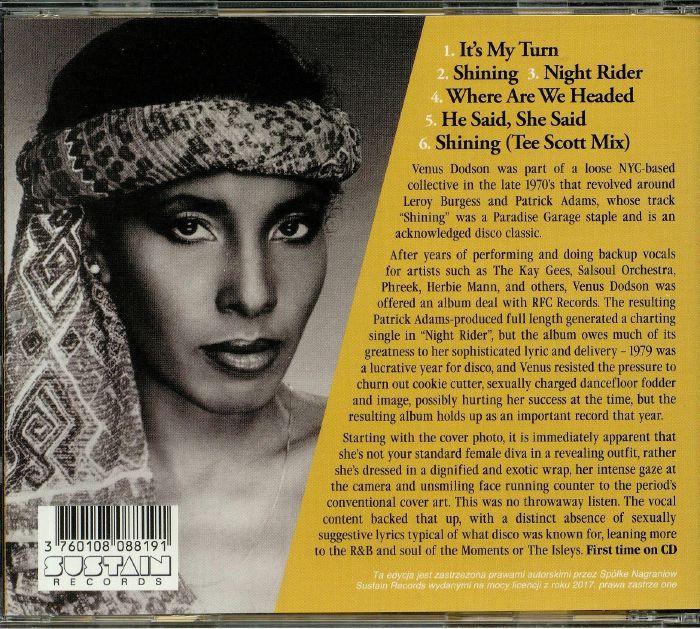 Venus Dodson Night Rider Reissue Vinyl At Juno Records