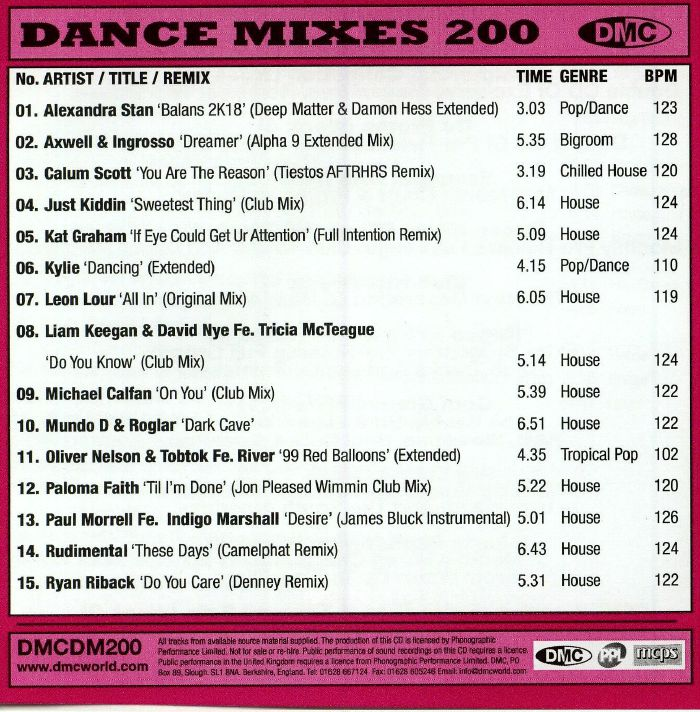 VARIOUS - Dance Mixes 200 (Strictly DJ Only)