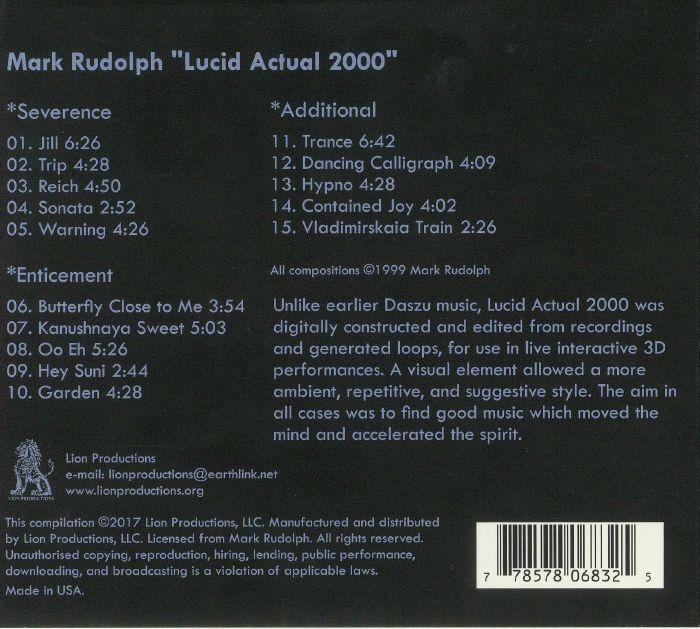 DASZU aka MARK RUDOLPH - Lucid Actual 2000