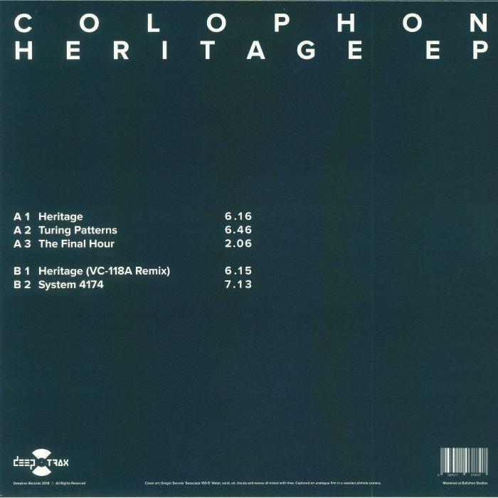 COLOPHON - Heritage EP