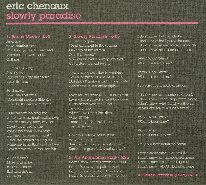 CHENAUX, Eric - Slowly Paradise