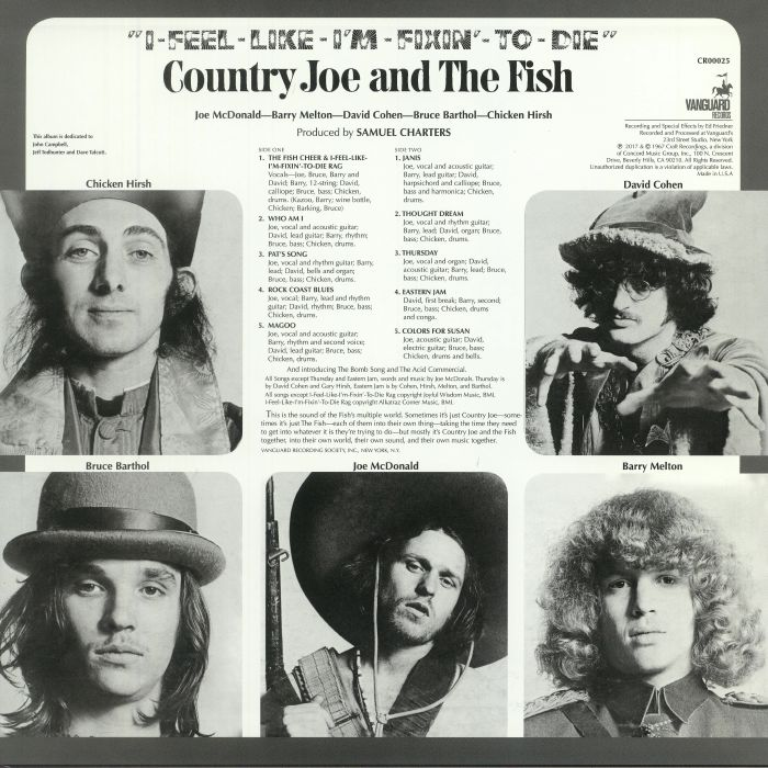COUNTRY JOE & THE FISH - I Feel Like I'm Fixin' To Die (remastered)