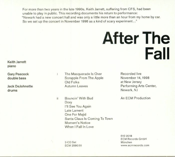 JARRETT, Keith/GARY PEACOCK/JACK DEJOHNETTE - After The Fall
