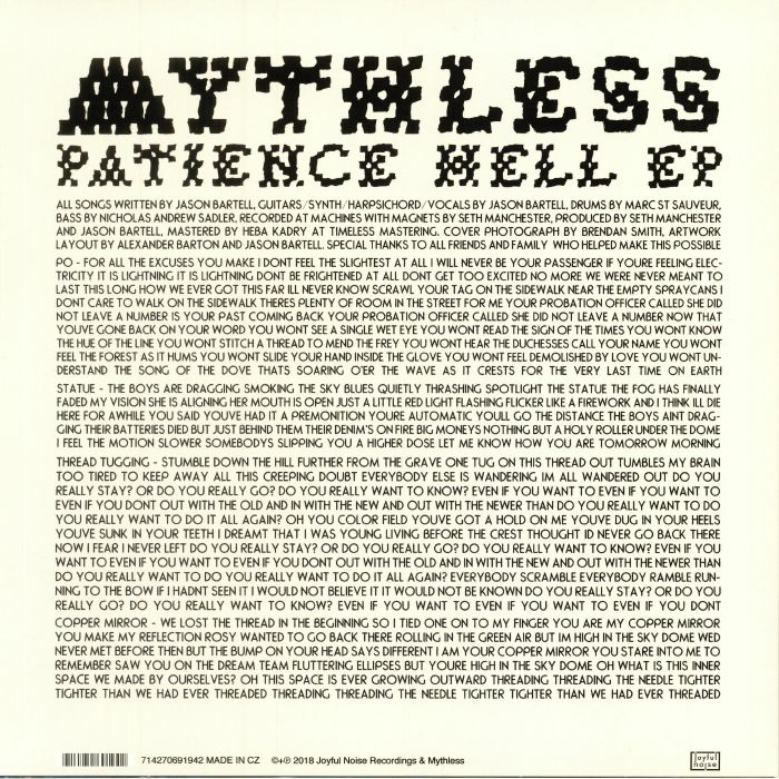 MYTHLESS - Patience Hell EP