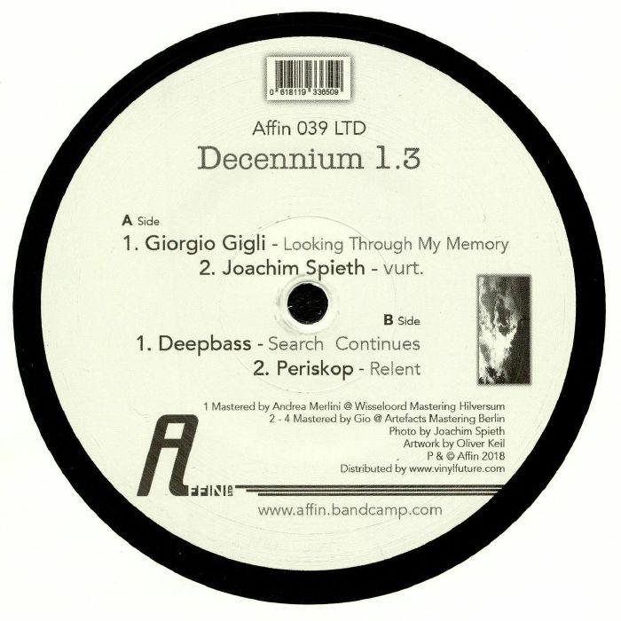 GIGLI, Giorgio/JOACHIM SPIETH/DEEPBASS/PERISKOP - Decennium 1 3