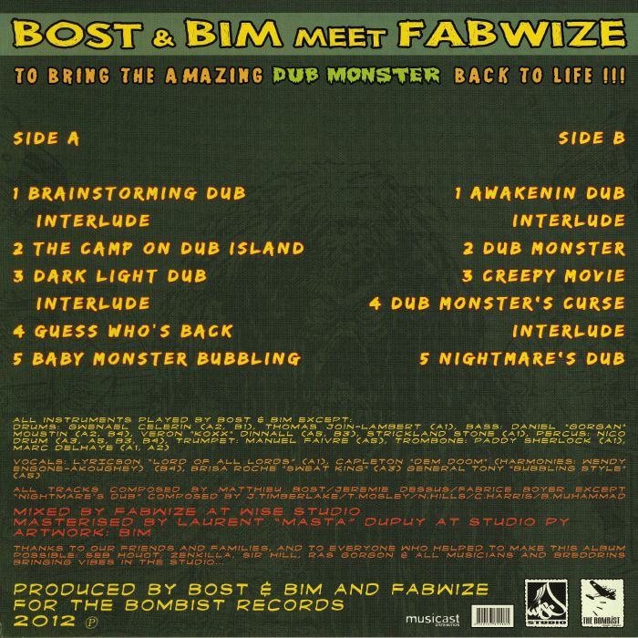 BOST & BIM meets FABWIZE - To Bring The Amazing Dub Monster Back To Life!!!