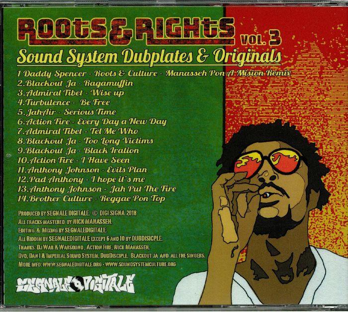 VARIOUS - Roots & Rights Vol 3: Sound System Dubplates & Originals