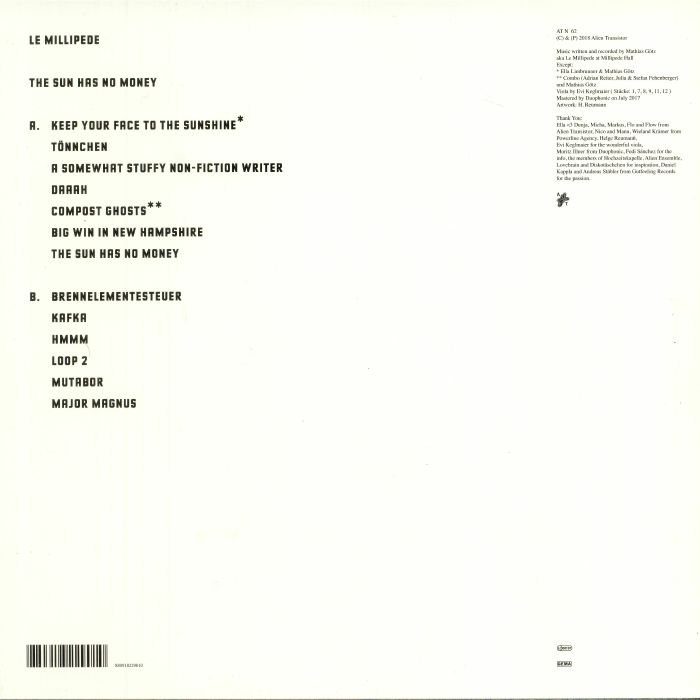 LE MILLIPEDE - The Sun Has No Money
