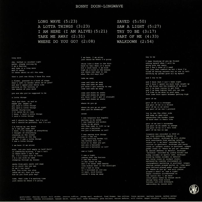 BONNY DOON - Longwave