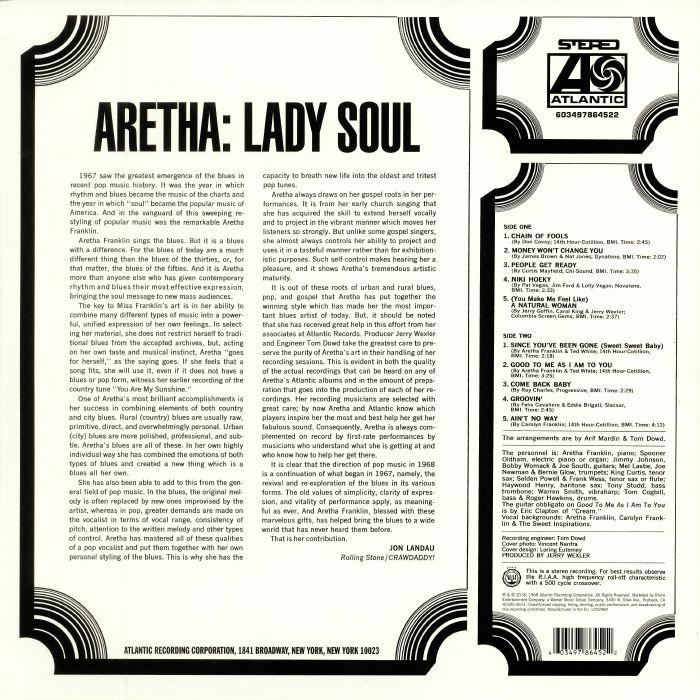 FRANKLIN, Aretha - Lady Soul: 50th Anniversary Edition