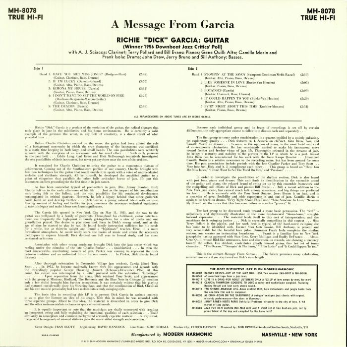 GARCIA, Dick - A Message From Garcia (reissue)