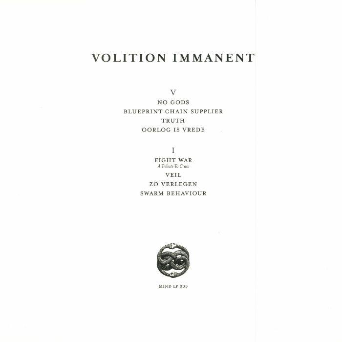 VOLITION IMMANENT - Volition Immanent