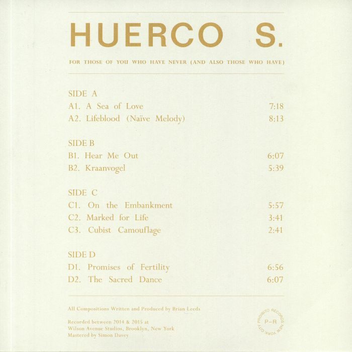 HUERCO S - For Those Of You Who Have Never (& Also Those Who Have) (reissue)