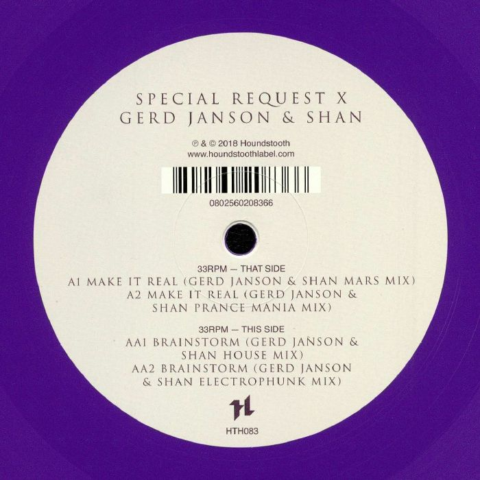 SPECIAL REQUEST/GERD JANSON/SHAN - Make It Real